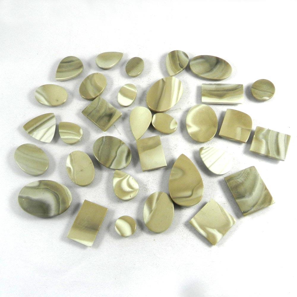 32 Pcs Natural Flint Jasper Mix Freeform Cabochon 100 Gms