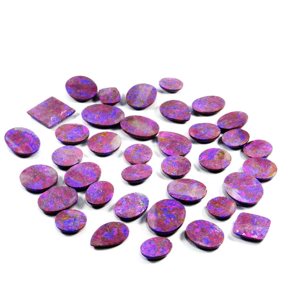 37 Pcs Purple Mohave Turquoise Mix Shape Cabochon 100 Gms