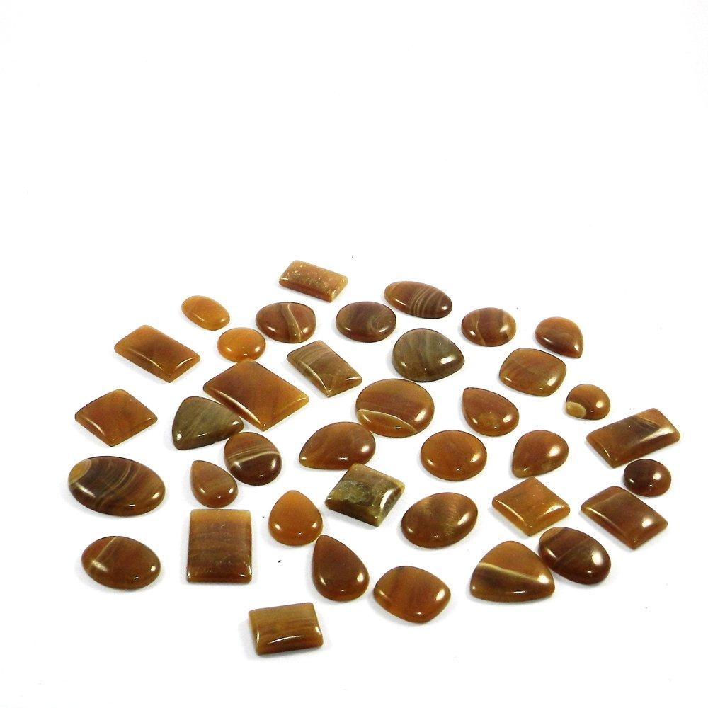 38 Pcs Honey Aragonite Mix Freeform Cabochon 100 Gms