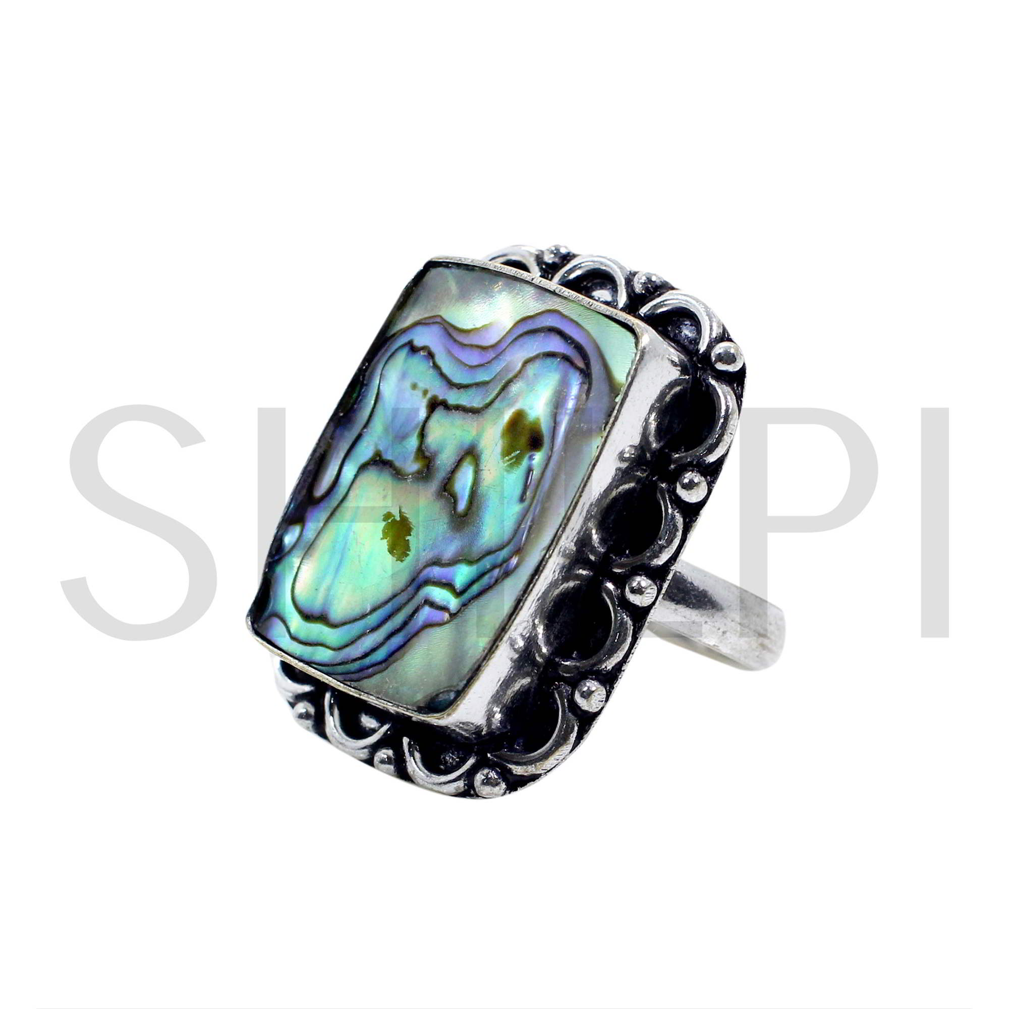 Abalone Shell Handcrafted 925 Sterling Silver Ring