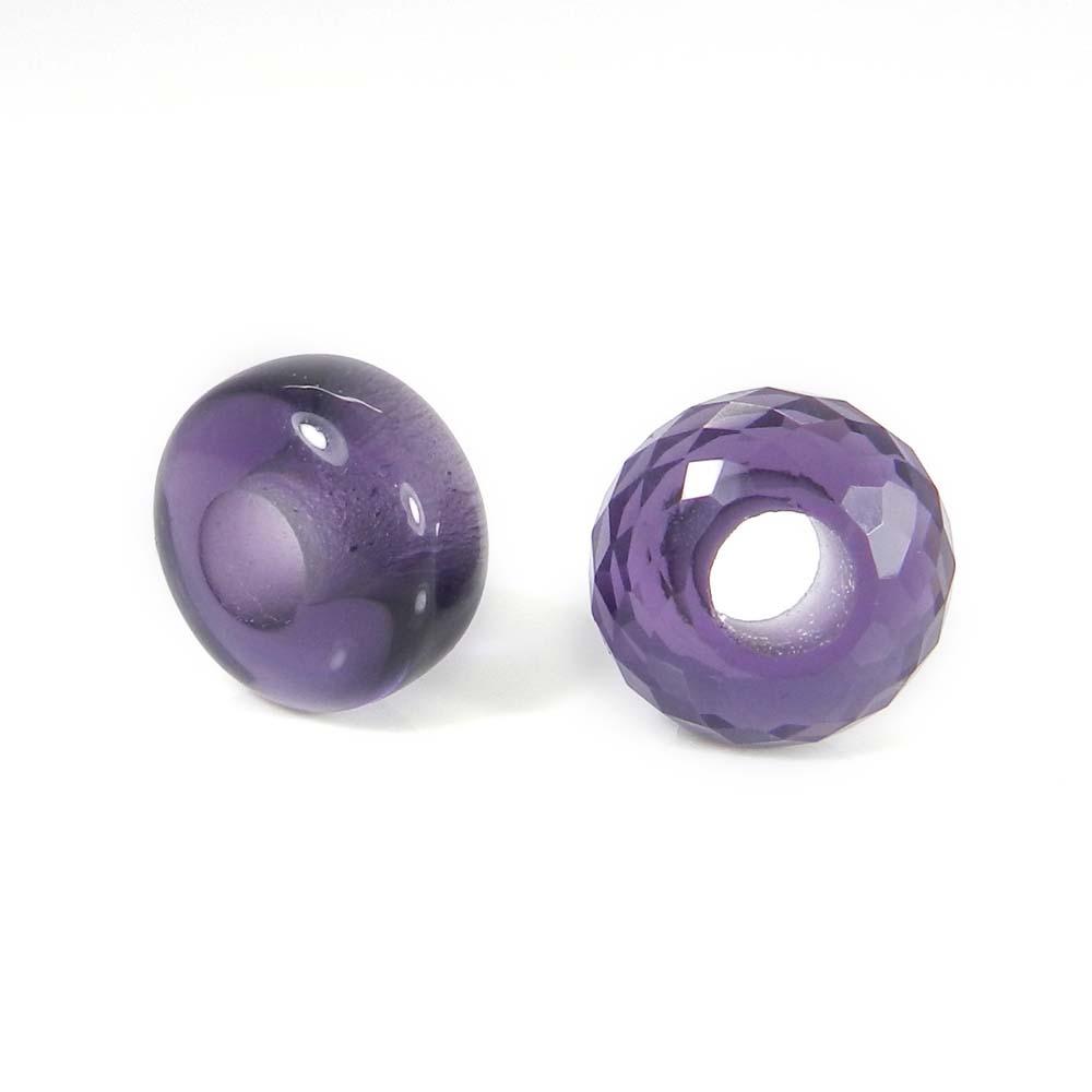 Amethyst hydro big hole gemstone beads for Jewelry making