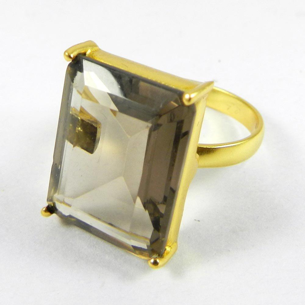 Anahi Gemstone Gold Plated Prong Set Ring