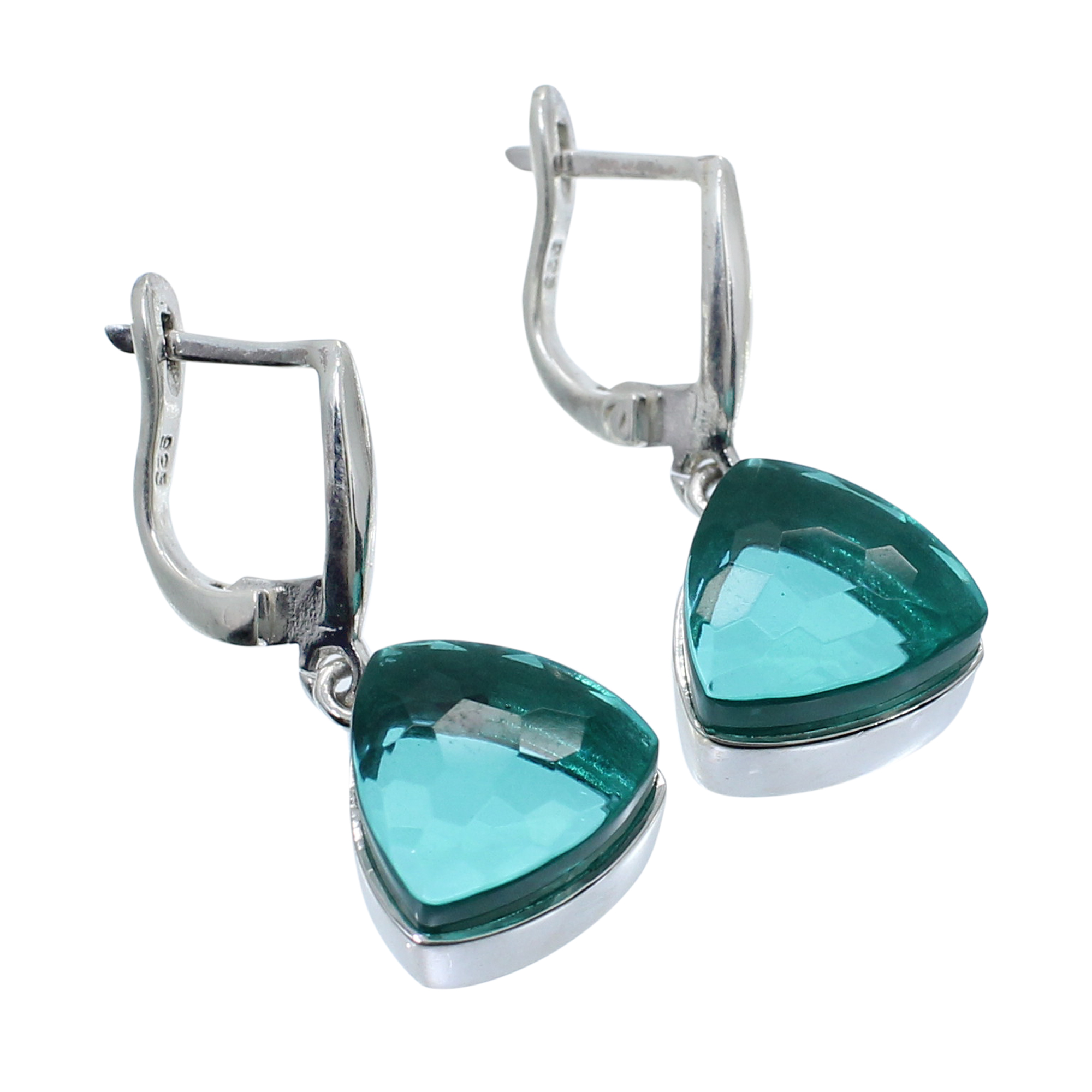 Apatite Hydro 925 Sterling Silver Handcraft Hook Earring
