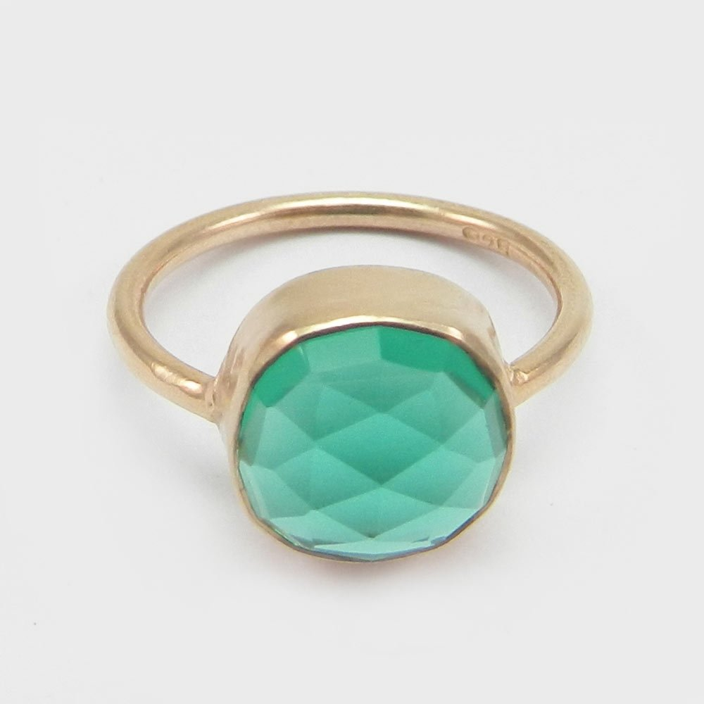 Apatite Hydro Gemstone Ring Solid 925 Sterling Silver Ring Rose Gold Plated Ring Everyday Ring Charm Ring