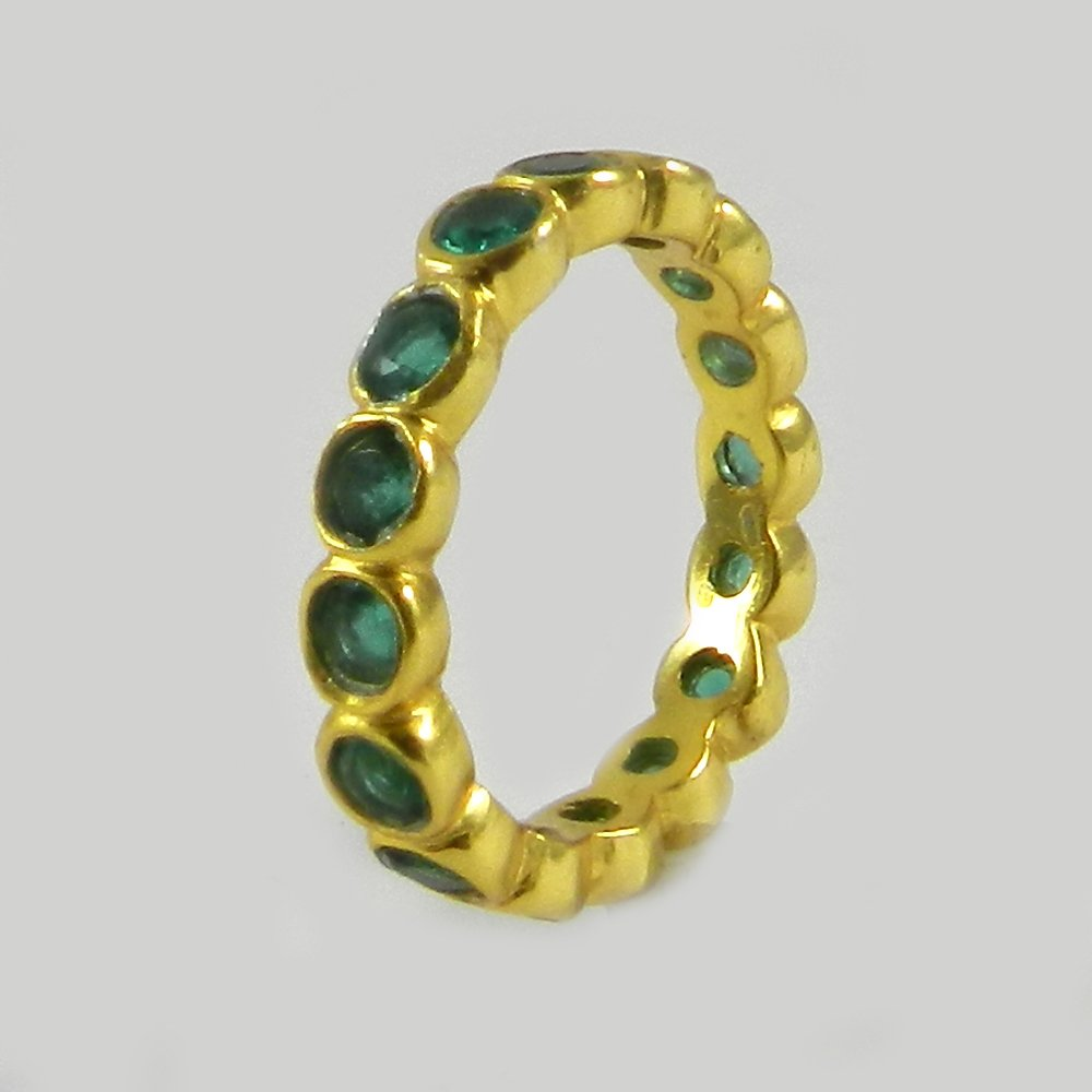 Apatite hydro silver eternity ring
