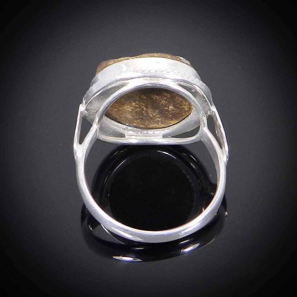 Australian Boulder Opal 925 Sterling Silver Designer Bezel Set Ring