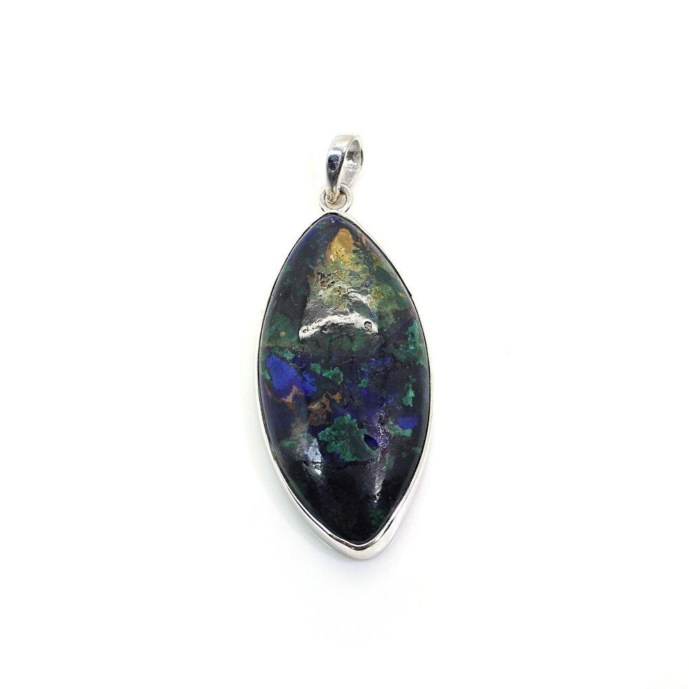 Azurite Malachite Silver Pendant