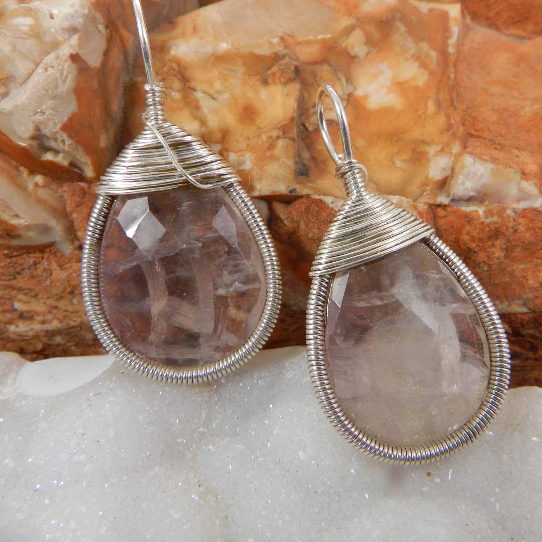 Bailey Natural Fluorite Silver Wire Wrapped Designer Pendant