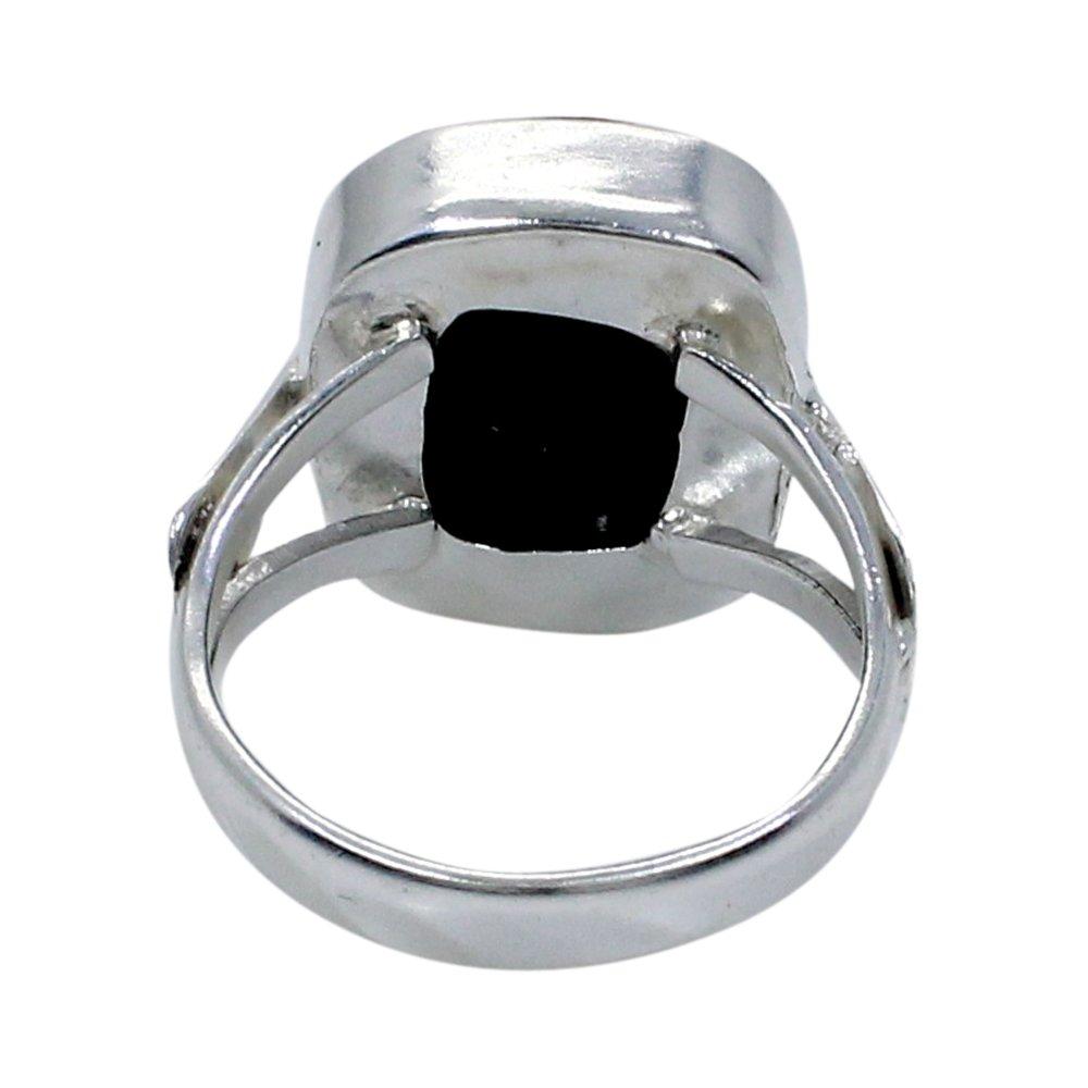 Black Onyx Handmade Silver Plated Bezel Set Ring