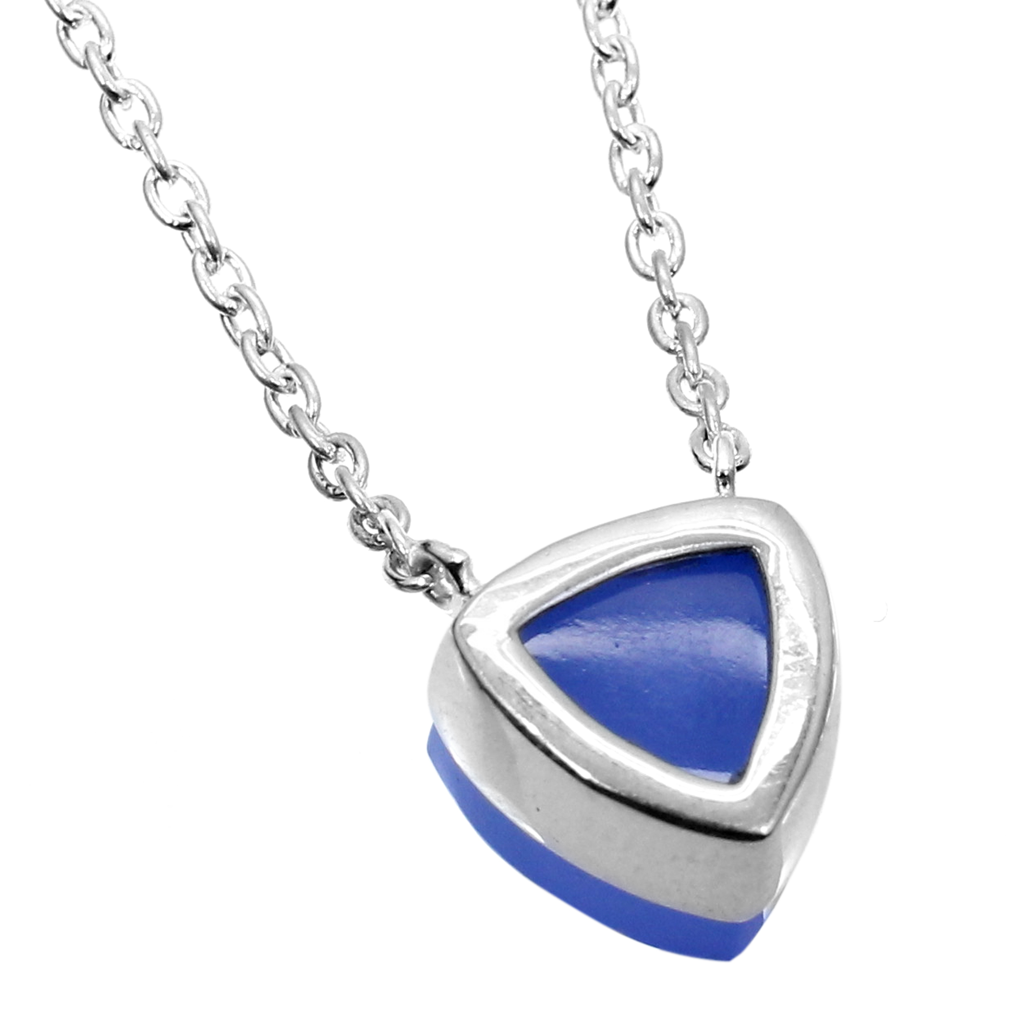 Blue Chalcedony 925 Sterling Silver Long Chain Necklace