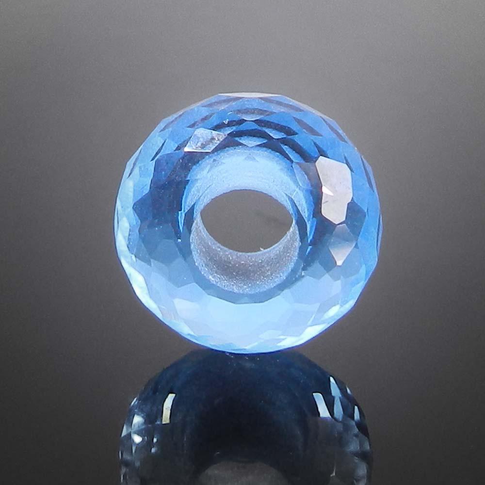 Blue Topaz hydro big hole gemstone beads for earring making