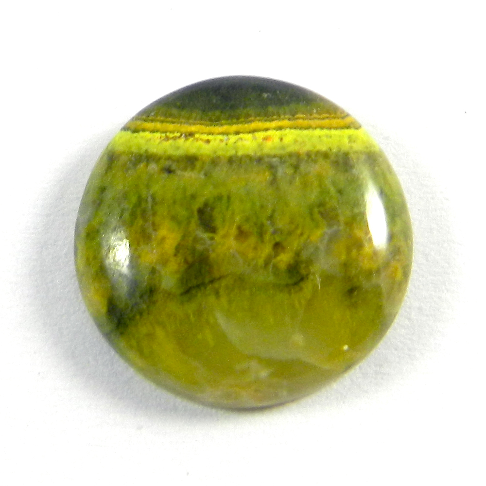 Bumble Bee Jasper 18.5mm Round Cabochon 15.20 Cts