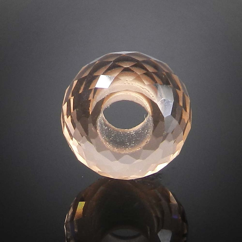 Champagne hydro big hole gemstone beads for bracelet making