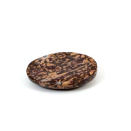 Christmas Selling Natural Mushroom Jasper 23.95 Cts Oval Cabochon 28x22mm Loose Gemstone