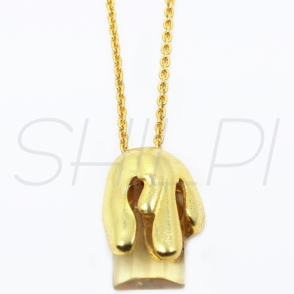 Citrine Hydro Gold Plated Designer Long Chain Wear Necklace
