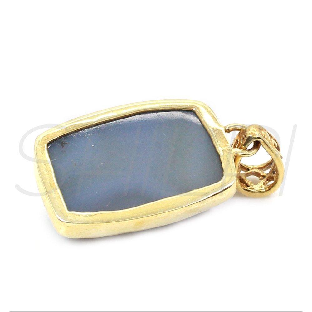 Coated Window Druzy Gold Plated Handcrafted Bezel Set Pendant