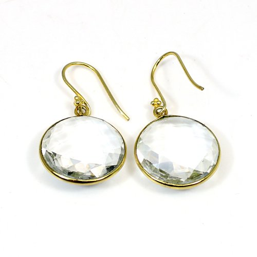 Crystal Quartz Brass Vermeil Women Earring