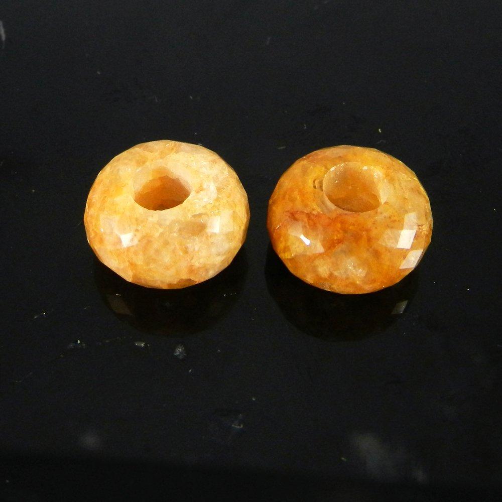 Dark Yellow Aventurine Roundel Facet Beads For Bracelet Making