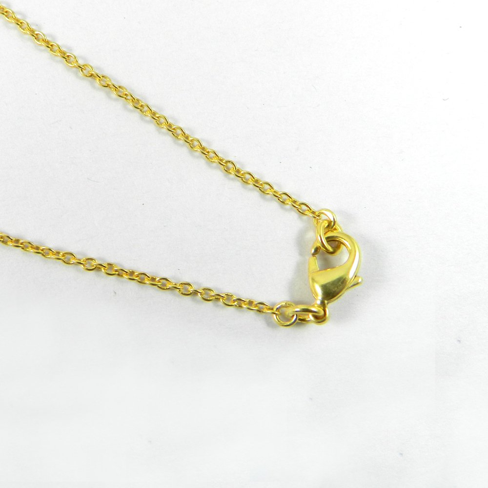 Designer Gold Plated 18 inch Cable Thin Chain For Jewelry Pendant