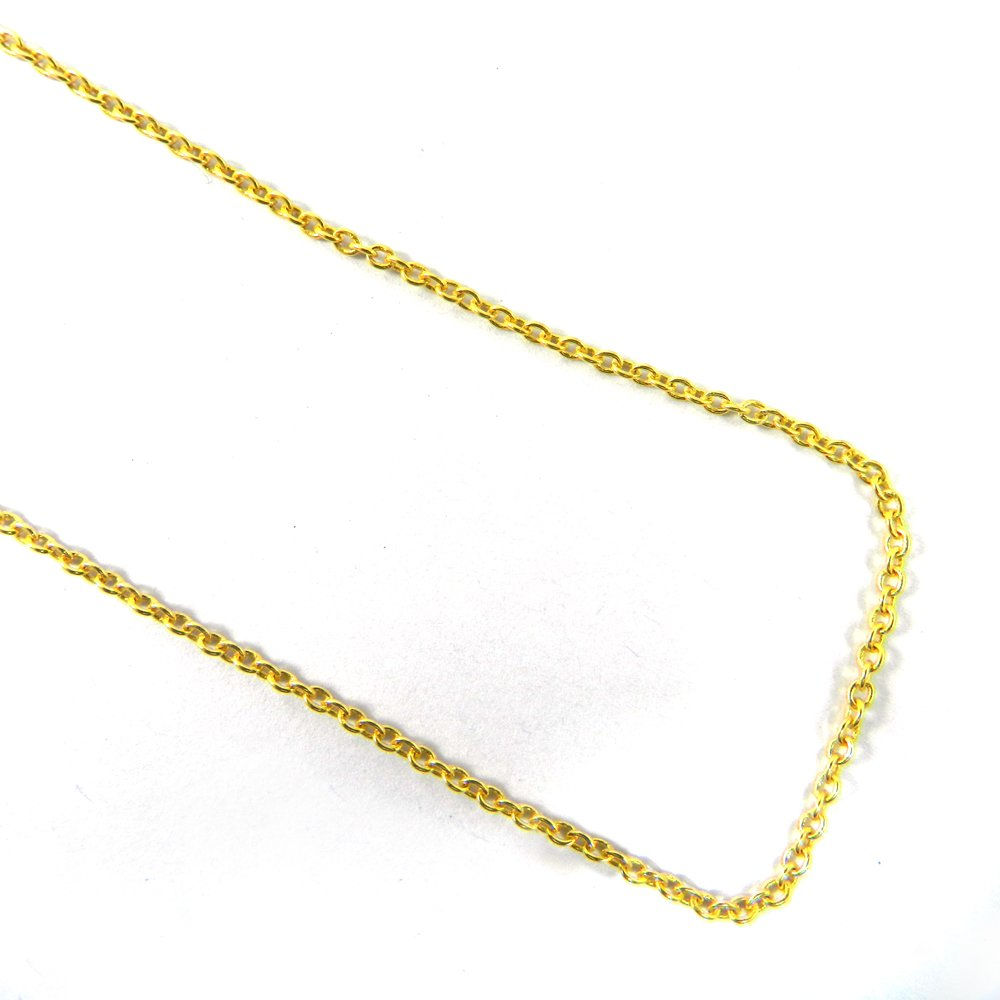 Designer Gold Plated 20 inch Cable Thin Chain For Jewelry Pendant