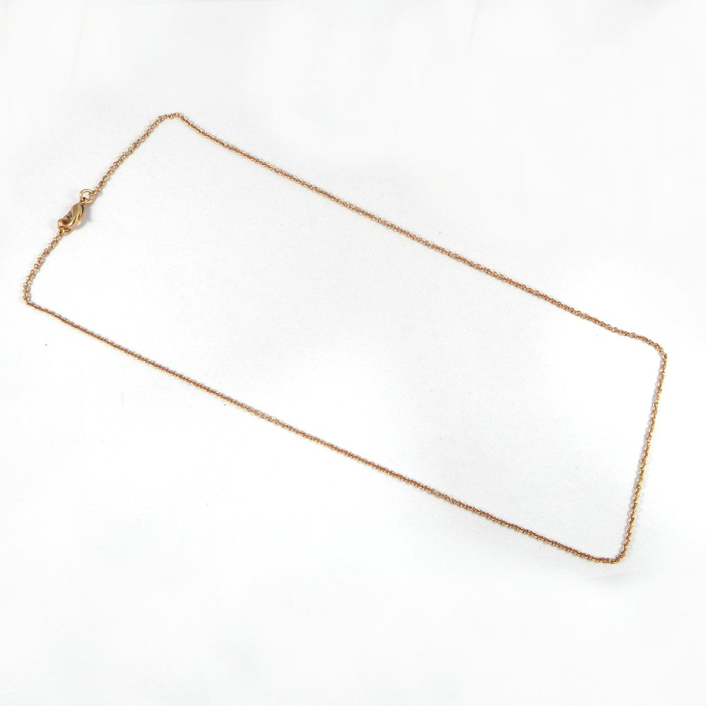 Designer Rose Gold Plated 20 inch Cable Thin Chain For Jewelry Pendant