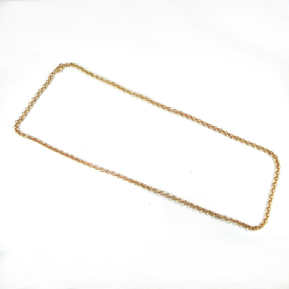Designer Rose Gold Plated 22 inch Cable Thick Chain For Jewelry Pendant