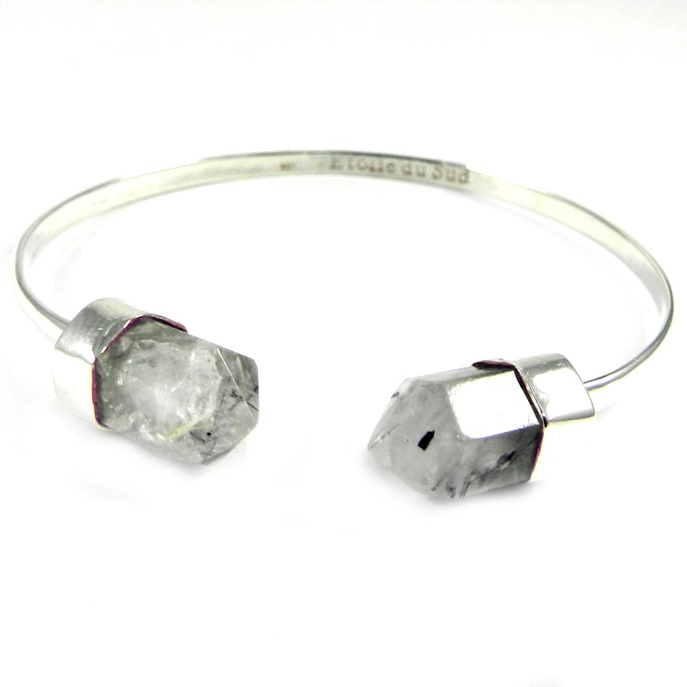 Exquisite Designer Jewelry Collection Natural Black Rutile Quartz Gemstone Bracelet Adjustable Bracelet Christmas Gift Handmade Bohemian Bracelet