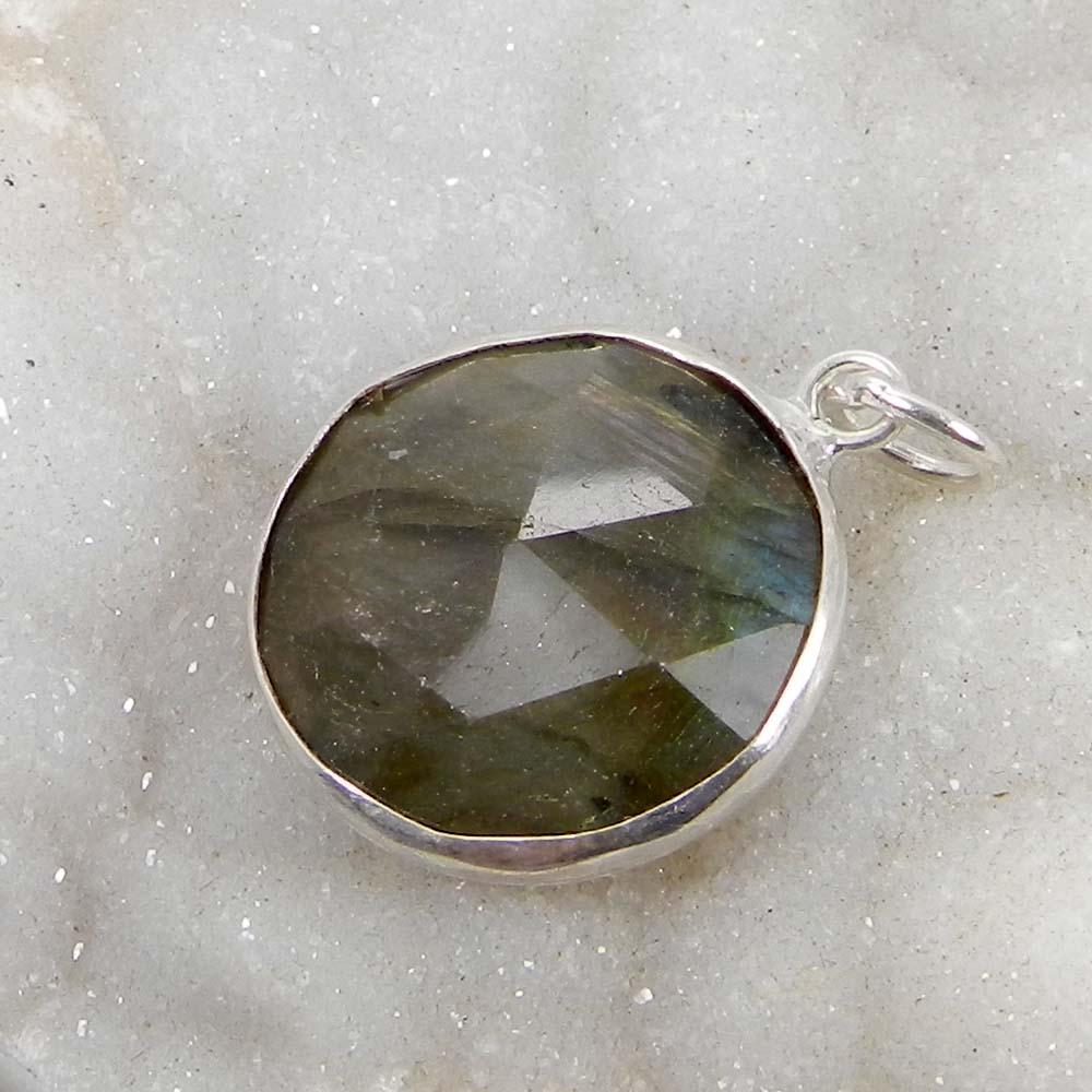 Fire Labradorite 925 Sterling Silver Designer Bezel Set Pendant