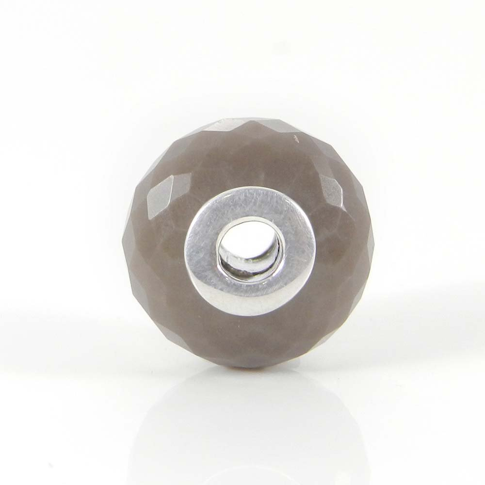 Flint Jasper big hole gemstone silver core beads for bracelet making