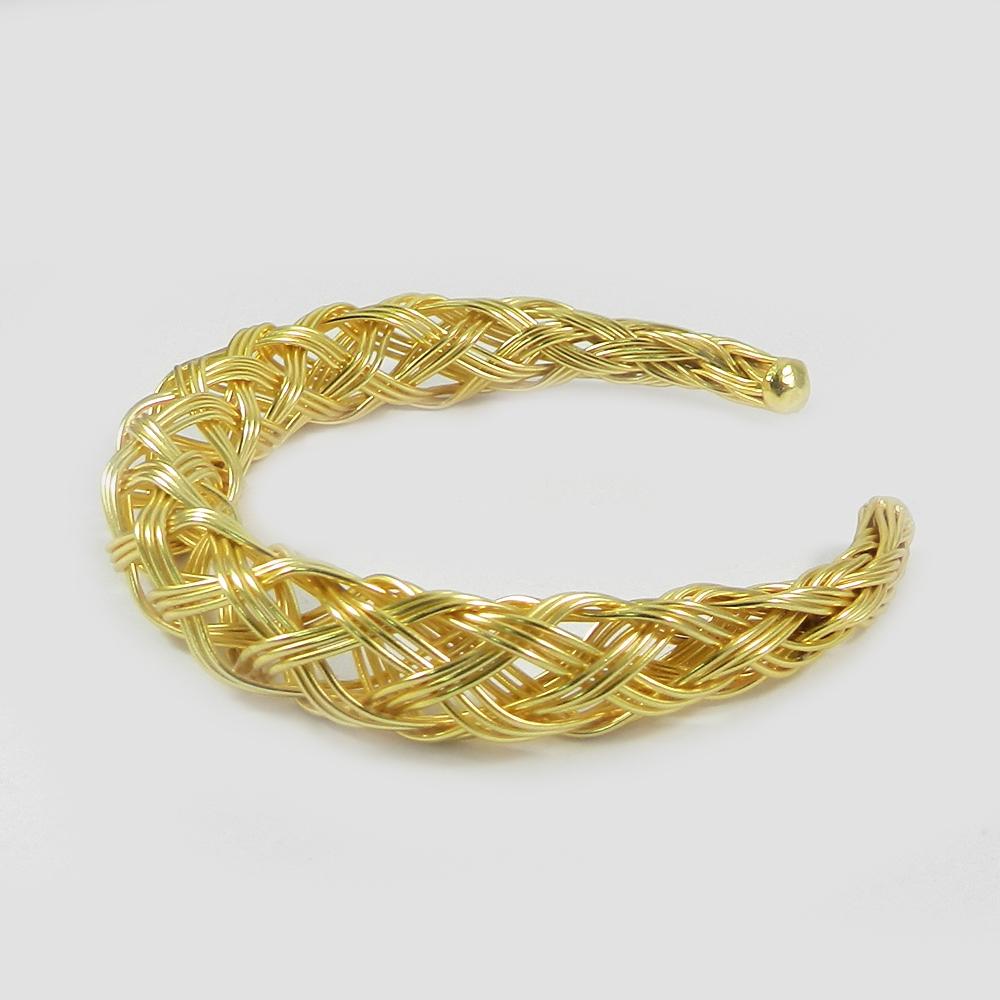 Gabrielle Wire Crafted Designer Gold Plated Adjustable Choker Bracelet