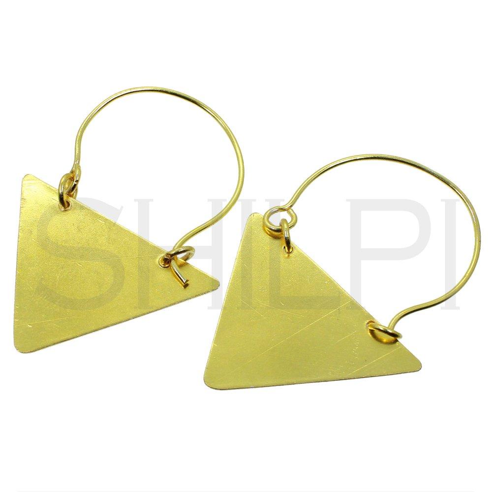 Geometric Gold Plated Designer Handmade Dangle Earrings