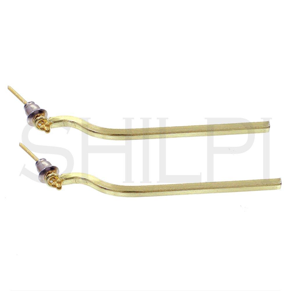 Gold Plated Designer Long Handmade Stud Earrings