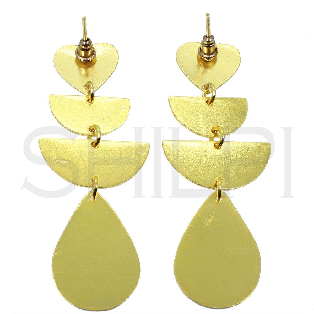 Gold Plated Heart Designer Stud Earrings Jewelry