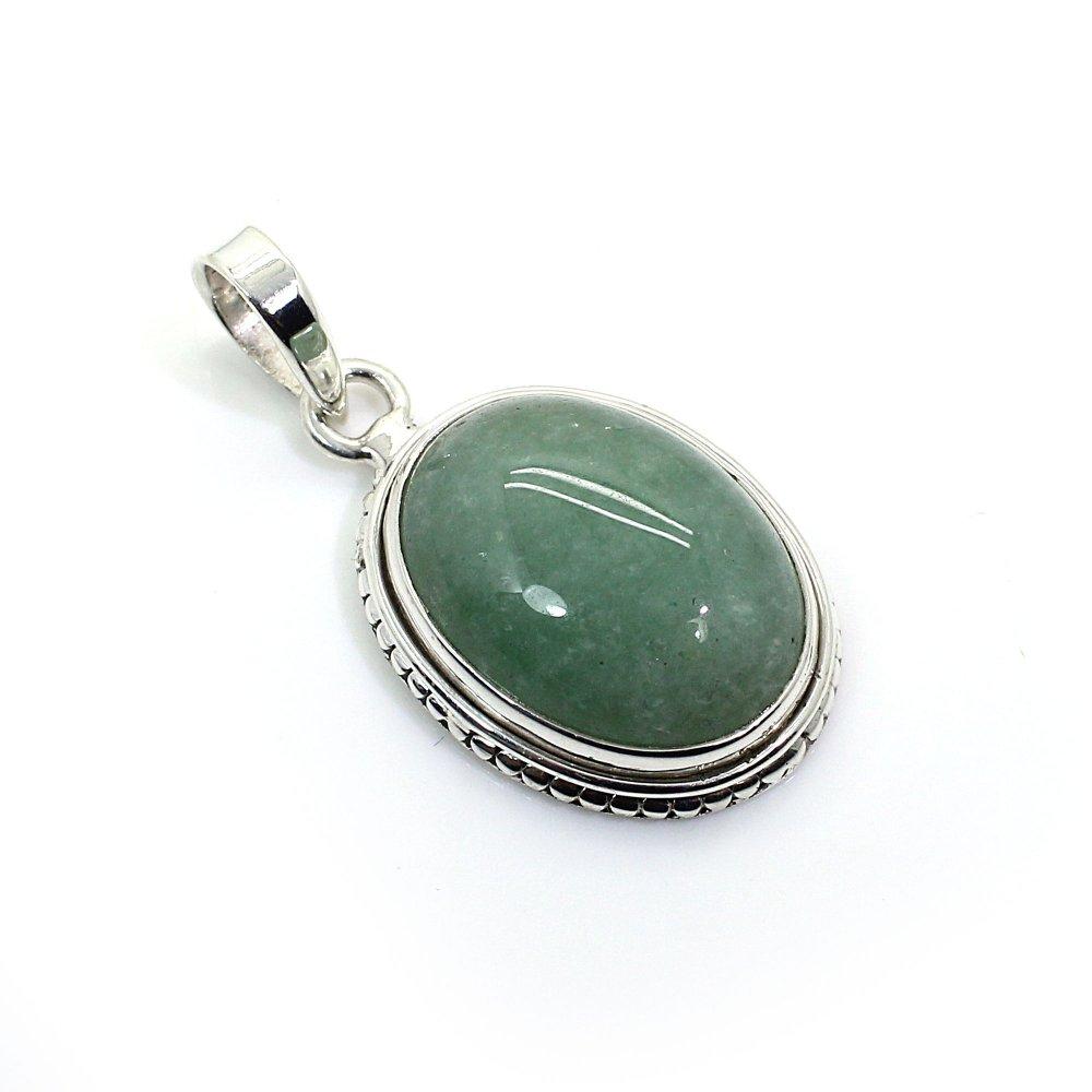 Green Aventurine 925 Sterling Silver Pendant