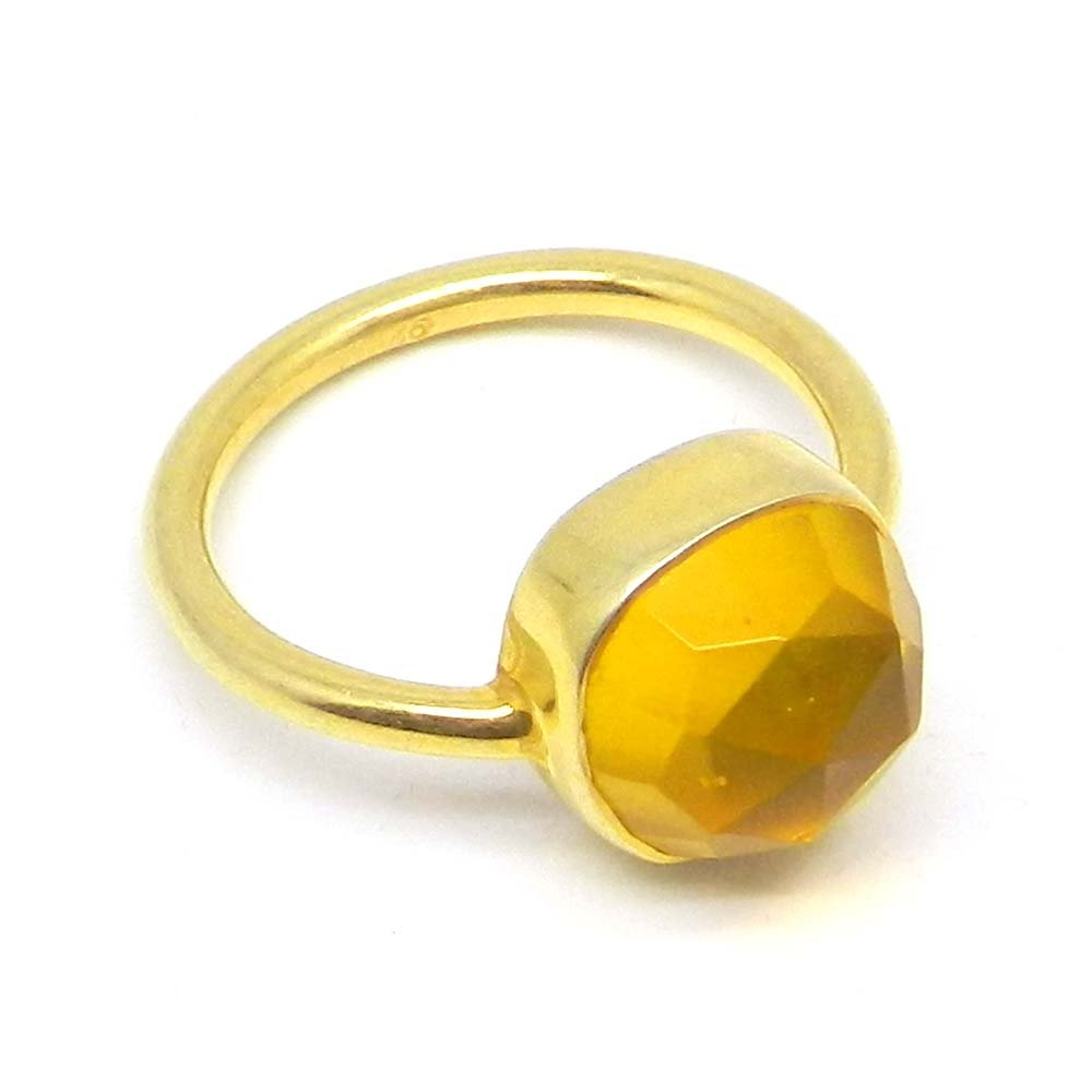 High Quality Ring Solid 925 Sterling Silver Ring Citrine Hydro Gemstone Ring Solid 925 Sterling Silver Ring Women Wedding Engagement Ring
