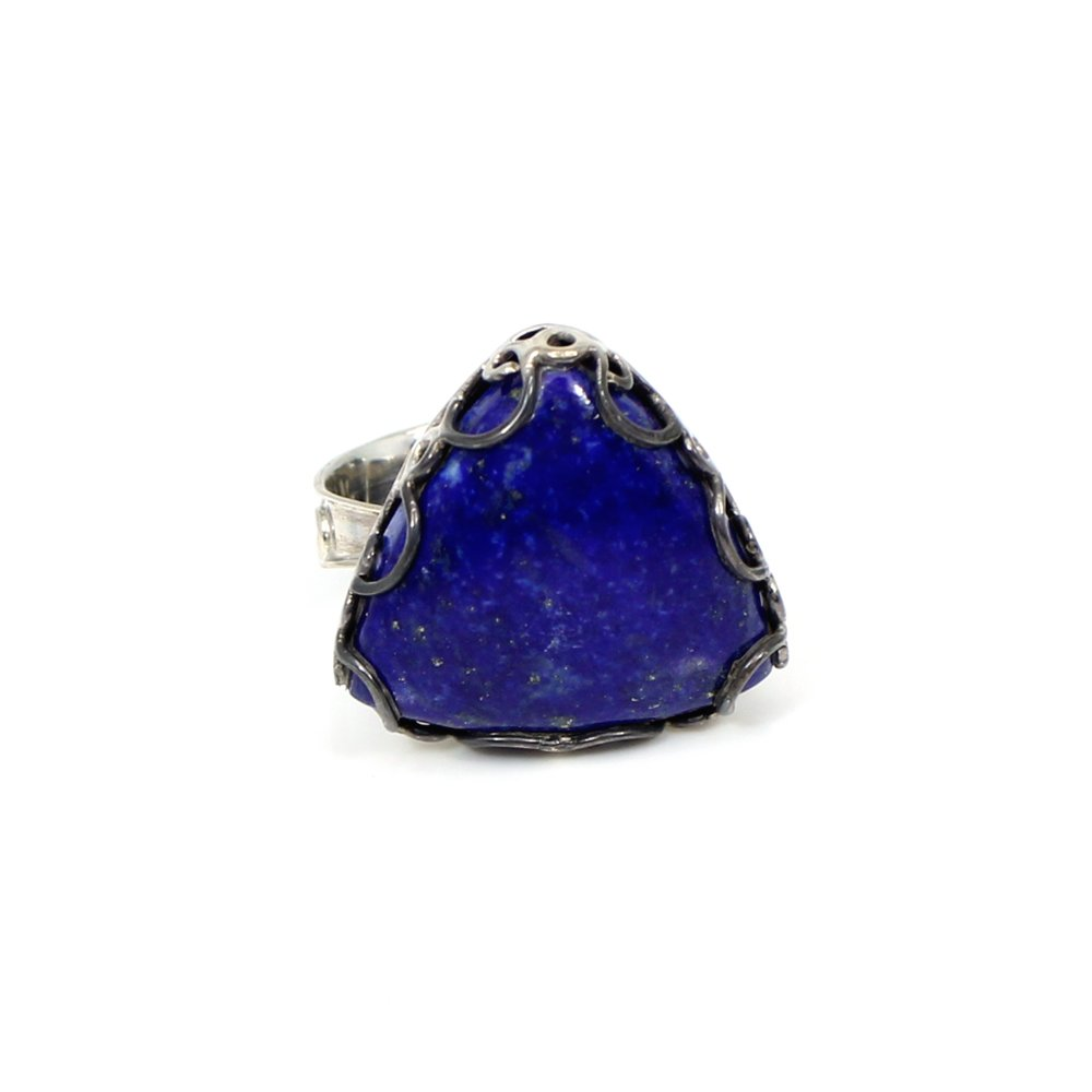 Hot Selling Deep Blue Lapis Lazuli Gemstone Ring Solid 925 Sterling Silver Ring Huge Rings Mens Engagement Rings Designer Ring