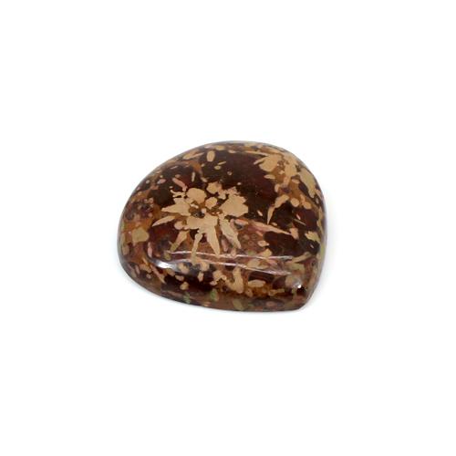 Hot Selling Natural Mushroom Jasper 19.30 Cts Heart Cabochon 23x23mm Loose Gemstone