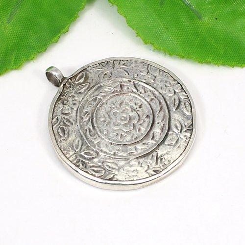 Indian Wholesaler Buddha Painting Pendant Solid 925 Sterling Silver Pendant Bohemian Handmade Pendant Miniature Art Pendants