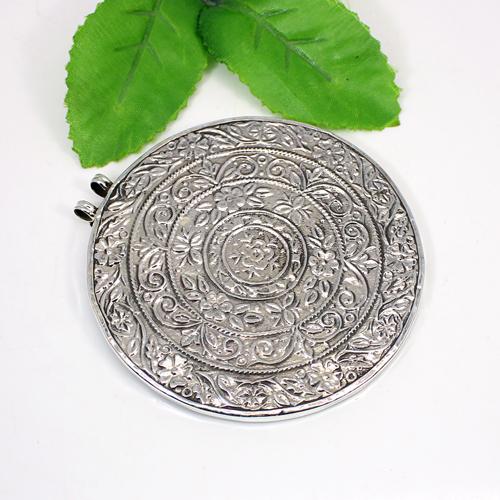 Indian Wholesaler Lord Ganesha Painting Pendant Solid 925 Sterling Silver Pendants Hindu Deity Pendants Miniature Pendant