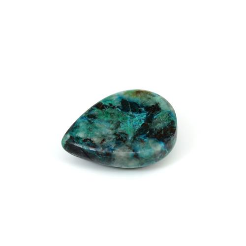 Indian Wholesaler Natural Chrysocolla 10.75 Cts Pear Cabochon 17x13mm Loose Gemstone