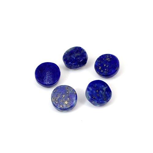 Indian Wholesaler Natural Lapis Lazuli Round Rose Cut 5 Pcs Lot 6mm 6 Cts Loose Gemstone