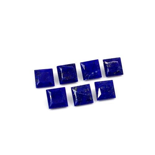 Indian Wholesaler Natural Lapis Lazuli Square Cut 5 Pcs Lot 6x6mm 12.1 Cts Loose Gemstone