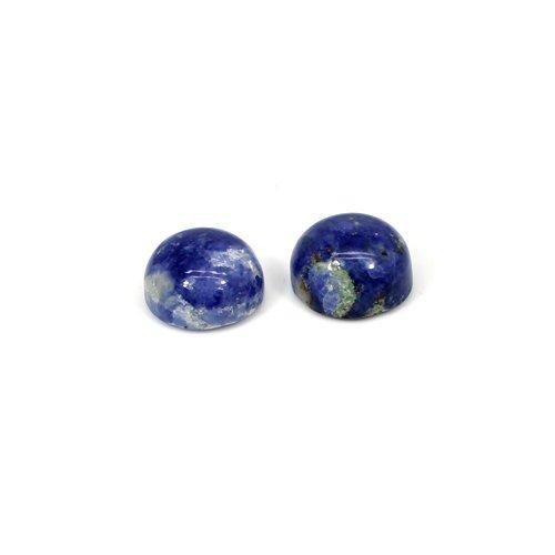 Indian Wholesaler Natural Sodalite 1 Pair Round Cabochon 12mm 13.90 Cts Loose Gemstone