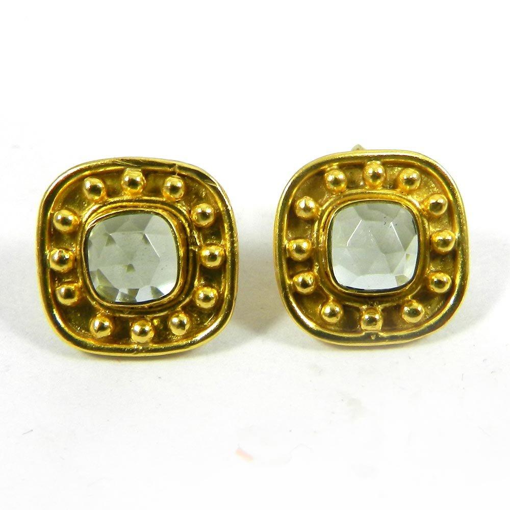 Kerion Gemstones Silver Stud Earrings