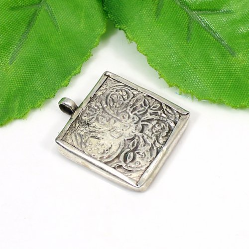 Latest Collection Buddha Painting Pendant Solid 925 Sterling Silver Jewelry Miniature Buddhism Pendant Boho Gift Pendant