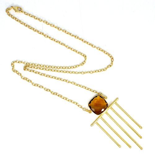 Latest Collection Citrine Hydro Necklace Designer Gold Plated Boho Necklace Chain Necklace