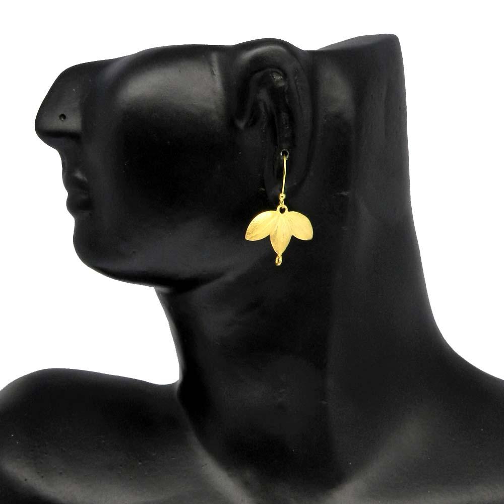 Leaf Designer Charm Gold Plated Designer Earring