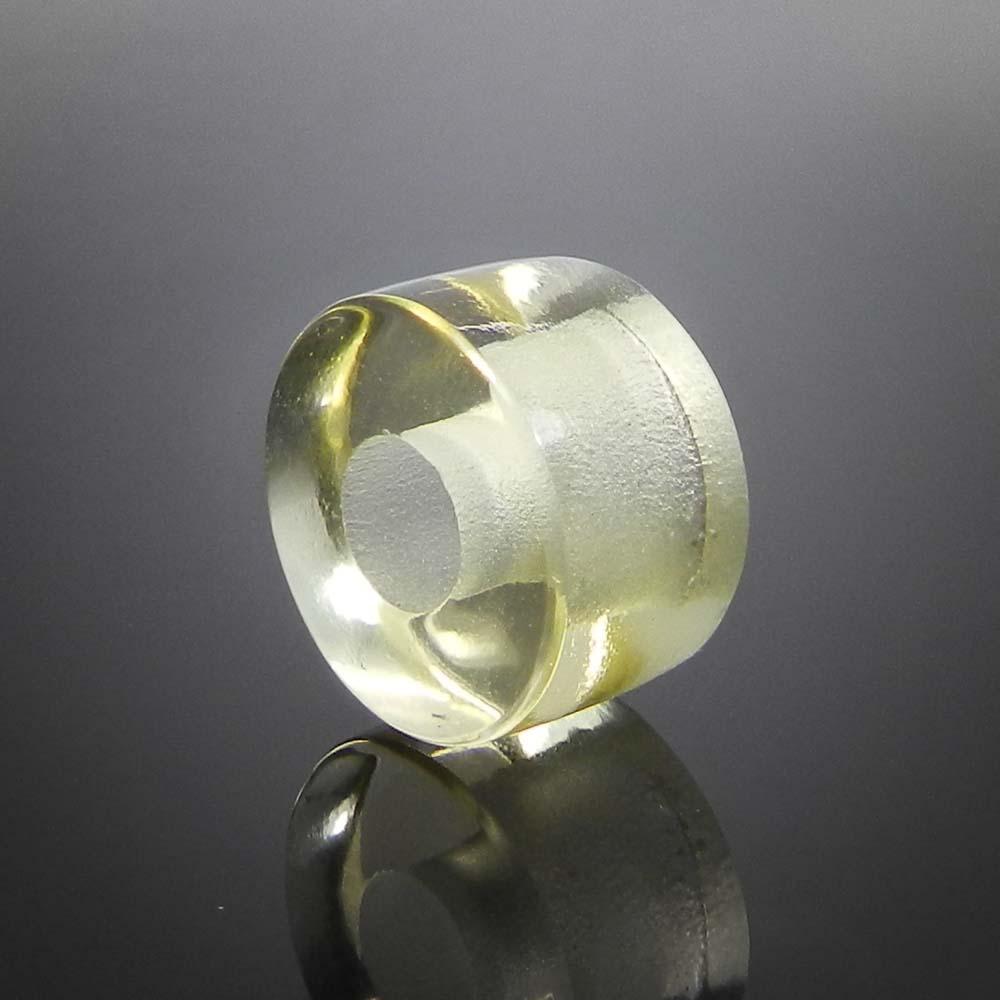Lemon hydro big hole gemstone beads for earring making