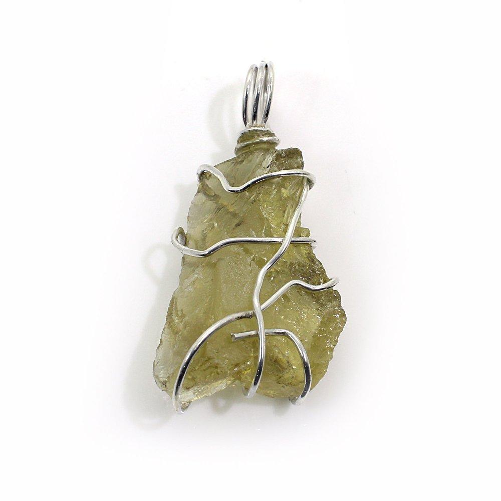 Lemon Quartz Silver Wire Pendant