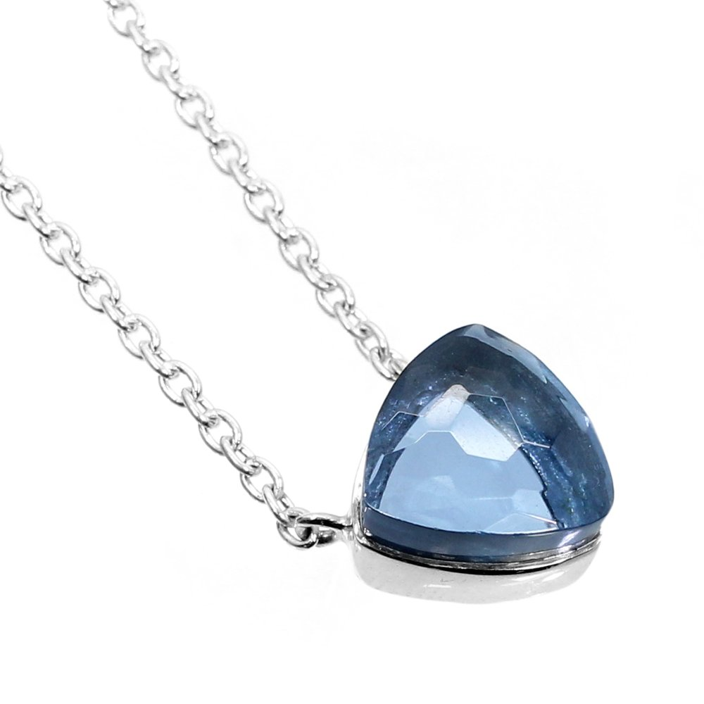London Blue Topaz Hydro 925 Sterling Silver Long Chain Necklace